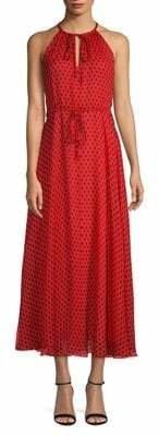 Diane von Furstenberg Printed Silk Halter-Neck Maxi Dress