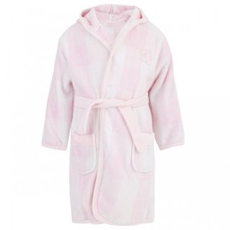 Mayoral Pink and white check bath robe with hood