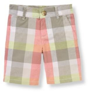 Janie and Jack Plaid Poplin Short