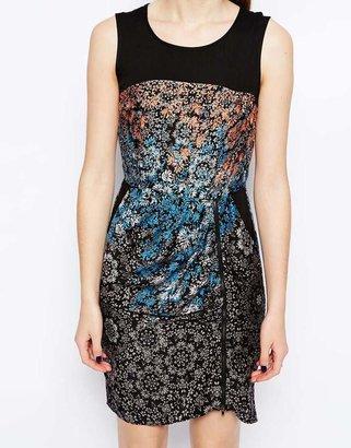 Warehouse Ombre Stencil Dress