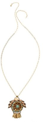 Deepa Gurnani Crystal Pendant Necklace