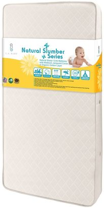 L.A. Baby Natural Sleep I Crib Mattress with Madison Jacquard Cover