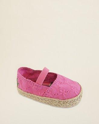 Ralph Lauren Infant Girls' Bowman Pink Eyelet Espadrille Shoes - Baby