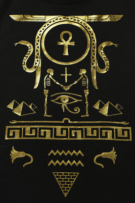 Truly Madly Deeply Hieroglyph Foiled Muscle Tee
