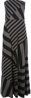 DKNY striped maxi dress