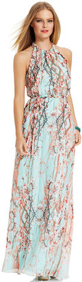 Jessica Simpson Floral-Print Halter Maxi Dress
