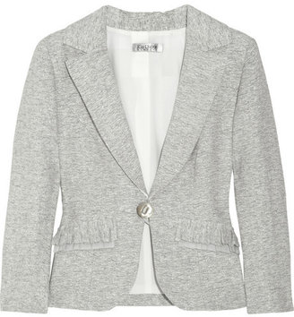 Kay Unger Metallic cotton and linen-blend blazer