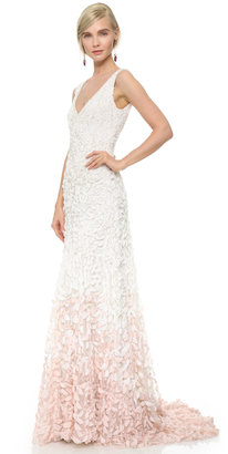 Theia Emma Embroidered Petal Gown $1,295 thestylecure.com