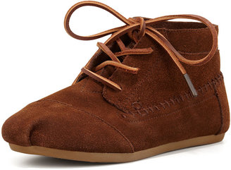 Toms Suede Moccasin Boot, Chocolate