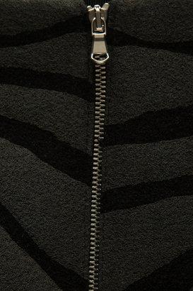 Carven Zebra-print wool-blend mini skirt