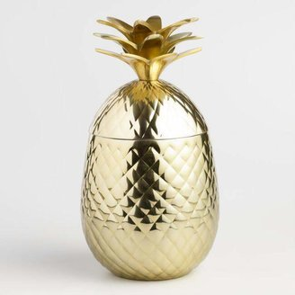 Gold Pineapple Ice Bucket