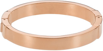 Michael Kors Thin Hinged Oval Bangle, Rose Golden