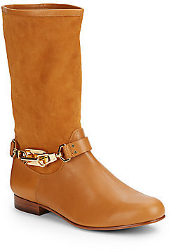 Rachel Zoe January Suede & Leather Mid-Calf Boots