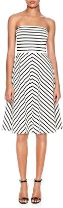 The Limited Strapless Stripe Ponte Dress