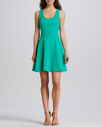 Ali Ro Scoop-Neck Fit-and-Flare Dress