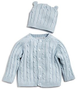 Elegant Baby Boys' Cable-Knit Sweater & Beanie Gift Set - Baby