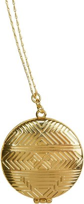 House Of Harlow Medallion Locket Necklace