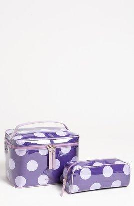 Kate Spade 'le pavillion - large natalie' cosmetics case set Disco Purple One Size