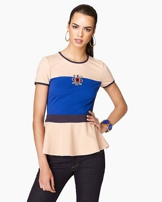 Juicy Couture Fluid Ponte Colorblocked Top