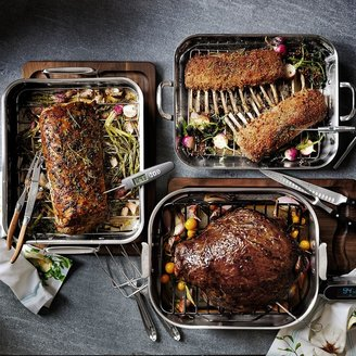 Williams-Sonoma Williams Sonoma Thermo-CladTM; Stainless-Steel Flared Roaster with Rack