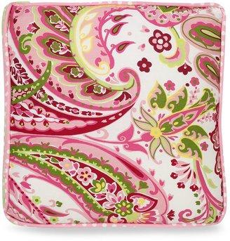 My Baby Sam Paisley Splash Throw Pillow in Pink