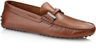 Tod's Double T Gommino Leather Moccasin Loafers