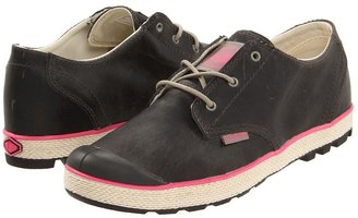 Palladium Slim Oxford Leather (Moon Rock/Hot Pink) - Footwear