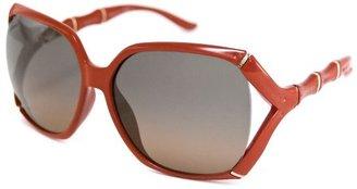 Gucci Women's brick red bamboo sunglasses