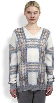 Stella McCartney Plaid V-Neck Sweater