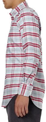 Thom Browne Button-Down Collar Check Cotton Oxford Shirt