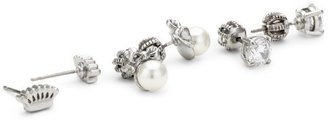 """Juicy Couture Pretty Perfect"""" Charmy Silver Stud Earrings Set"""