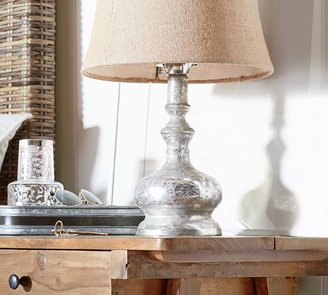 Pottery Barn Antique Mercury Glass Table & Bedside Lamps