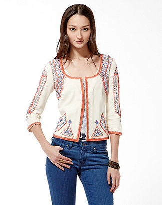 Lucky Brand Irving and Fine Embroidered Jacket
