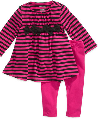 First Impressions Baby Set, Baby Girls Ditsy Dress and Leggings