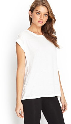 Forever 21 Crew Neck Burnout Tee