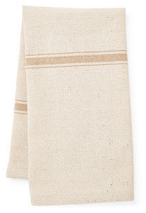 S/2 Striped Tea Towels, Khaki