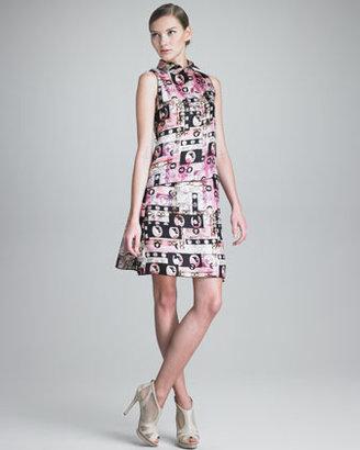 Jil Sander Navy Cameo-Print Skirt