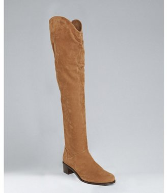 Stuart Weitzman luggage rice suede 'Dunkirk' over-the-knee boots