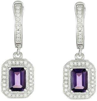 Sterling Gemstone & 1/3 cttw Diamond Earrings