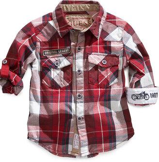 GUESS Shirt, Baby Boys Plaid Shirt