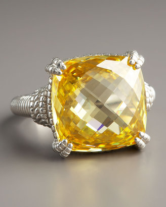 Judith Ripka Cushion-Cut Canary Ring