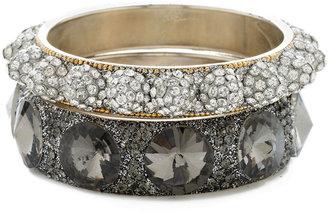 Chamak by Priya Kakkar Set Of 2 Spiked Crystal Bangle Bracelets