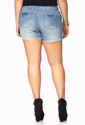Forever 21 Must-Have Distressed Denim Shorts