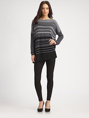 Vince Striped Wool-Rich Boatneck Sweater