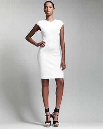 Alexander McQueen Honeycomb & Bee 3D Jacquard Dress