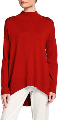 Eileen Fisher Mock Neck Oversized Wool Sweater