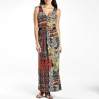 Robbie Bee Belted V-Neck Maxi Dress - Petite