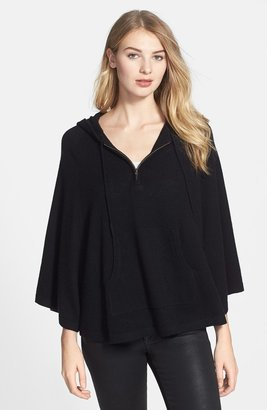 Halogen Wool & Cashmere Hooded Poncho