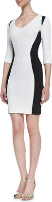 Just Cavalli Bicolor Ponte Dress