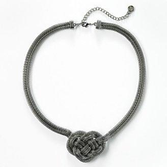 Vera Wang Simply vera jet-tone knot necklace